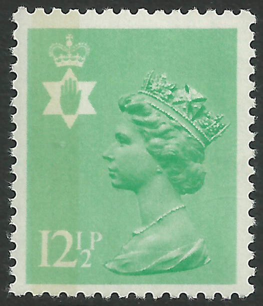 Ni 36 12 P Pale Emerald Perf 14 Side Band Northern Ireland