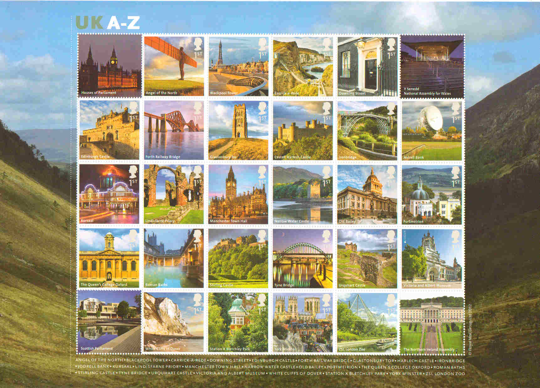 Great Britain Stamps 2012 Stamp Set Great Britain