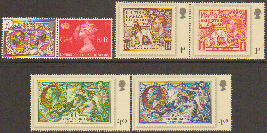 Sg3066 3071 2010 London Festival Of Stamps Set Of 6