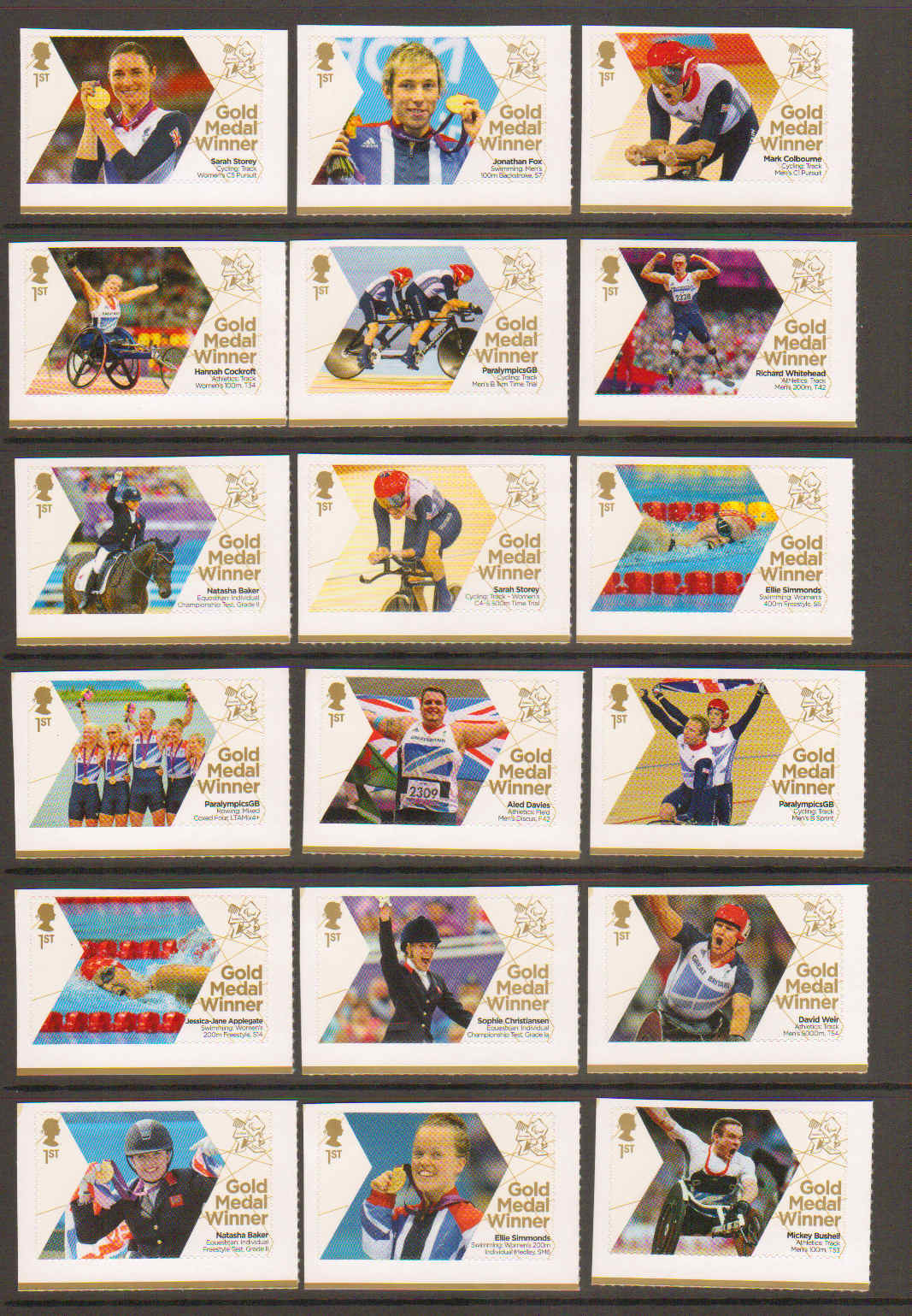 Great Britain Stamps 2012 Great Britain 2012 Paralympic