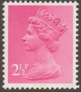 _X851 2½p Magenta Centre Band (X Number Machin Stamps)