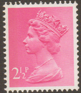 _X852 2½p Magenta Left Band (X Number Machin Stamps)