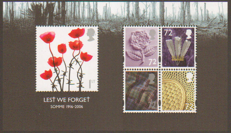 2006 ms2685 lest we forget miniature sheet