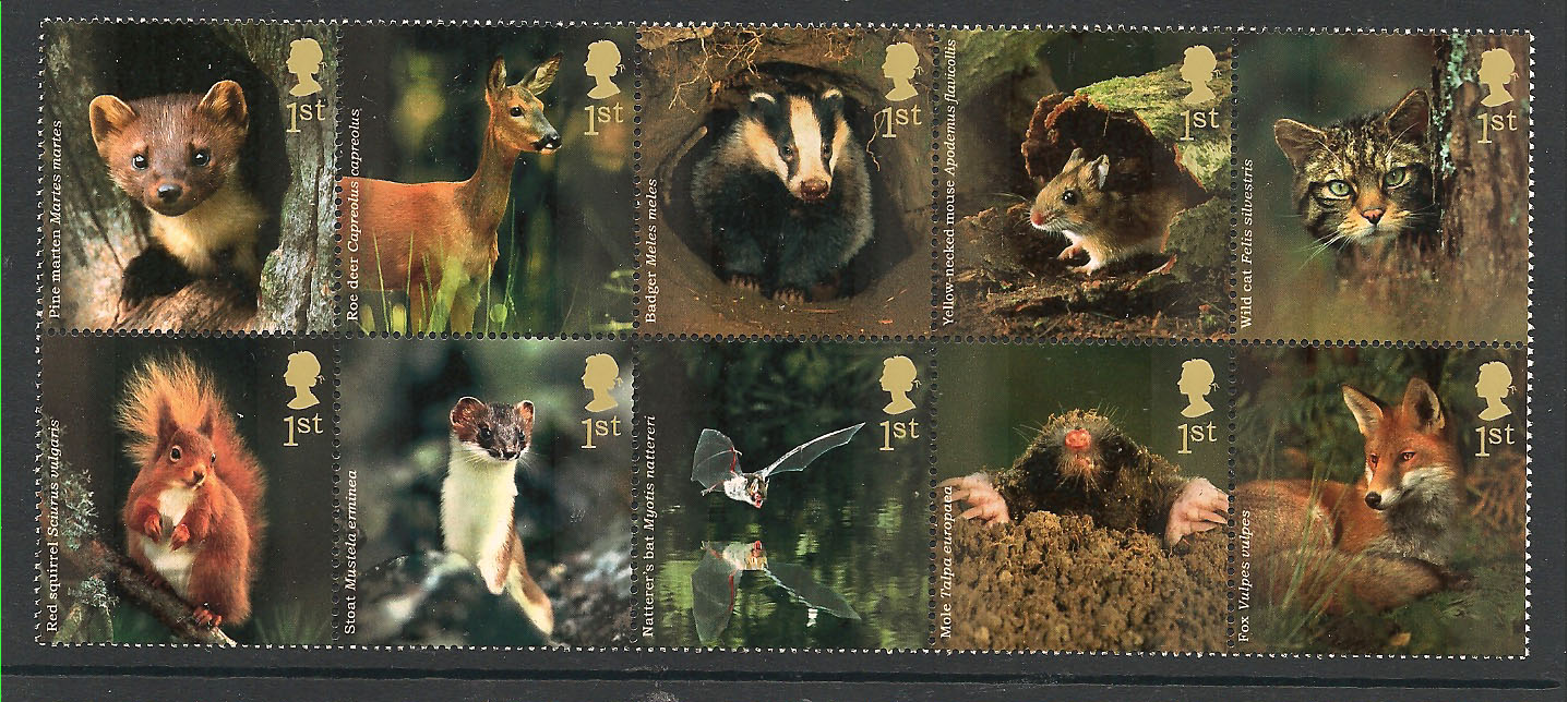 SG2479 2488 2004 Woodland Animals Stamp Set
