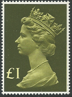 SG1026 1977-87 £1 Tall Format (Decimal Machin High Value Stamps)