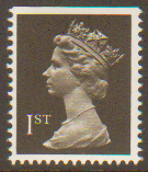 SG1447 1st Class Black NVI Machin Stamp Imperf at Top PCP Harrison