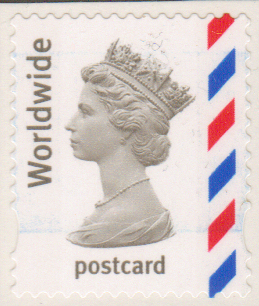 sg2357a worldwide postcard nvi definitive stamp self adhesive